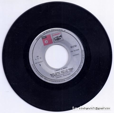 Discos de vinilo: DISCO SINGLE - CINDY & BERT - PS 18 028 (1974) - Foto 3 - 277304893