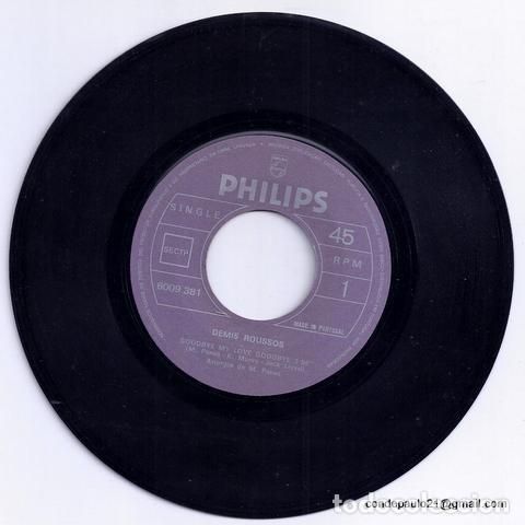 Discos de vinilo: DISCO SINGLE - DEMIS ROUSSUS - 6009 381 (1973) - Foto 3 - 277304993