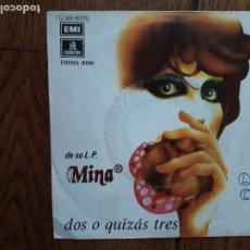 Disques de vinyle: MINA - DUE O FORSE TRE (DOS O QUIZÁS TRES) + DISTANZE (DISTANCIAS). Lote 277413813