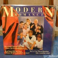 Discos de vinilo: MAXI SINGLE UK CIRCA 1988 MODERN ROMANCE BEST YEARS OF... MUY BUEN ESTADO. Lote 277425463