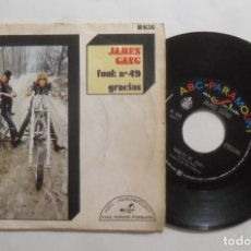 Discos de vinilo: SINGLE - JAMES GANG - A: FUNK Nº 49 - B: GRACIAS - ABC PARAMOUNT - 1970. Lote 277450068