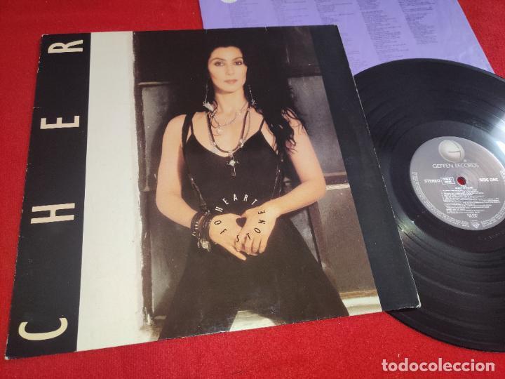 CHER HEART OF STONE LP 1989 GEFFEN EDICION ALEMANA GERMANY (Música - Discos - LP Vinilo - Pop - Rock - Internacional de los 70)