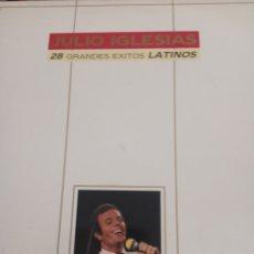 """Discos de vinilo: VINILO DOBLE LP JULIO IGLESIAS """" 28 GRANDES EXITOS LATINOS """". Lote 277452858"""