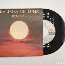 """Discos de vinilo: VINILO DE 7 PULGADAS DE BONEY M. QUE CONTIENE """"KALIMA DE LUNA"""" Y """"TEN THOUSAND LIGHT YEARS"""". ARIOLA.. Lote 277462803"""
