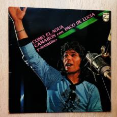 Discos de vinilo: CAMARÓN CON PACO DE LUCIA Y TOMATITO - COMO EL AGUA (VINILO LP). Lote 277476508