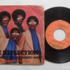 Discos de vinilo: SINGLE - THE REFLECTIONS - A: THREE STEPS FROM TRUE LOVE - B: HOW COUL WE LET THE LOVE GET ASAY - CA. Lote 277478818