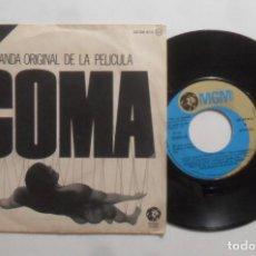 Discos de vinilo: SINGLE - COMA, BANDA SONORA ORIGINAL DE LA PELICULA - A: - MGM - 1978. Lote 277480408