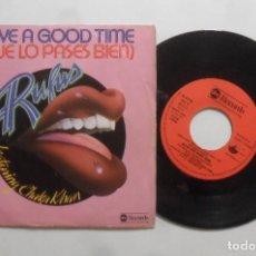 Discos de vinilo: SINGLE - RUFUS CON CHAKA KHAN - A: HAVE A GOOD TIME - B: DANCE WITH NE - ABC RECORDS - 1976. Lote 277494788
