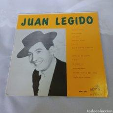 Discos de vinilo: JUAN LEGIDO - RCA VICTOR - EDITADO EN VENEZUELA. Lote 277498368