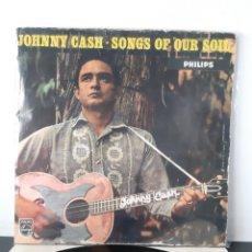 Discos de vinilo: JOHNNY CASH. SONGS OF OUR SOIL. PHILIPS. 1959. UK. BBL 7353.. Lote 277500203
