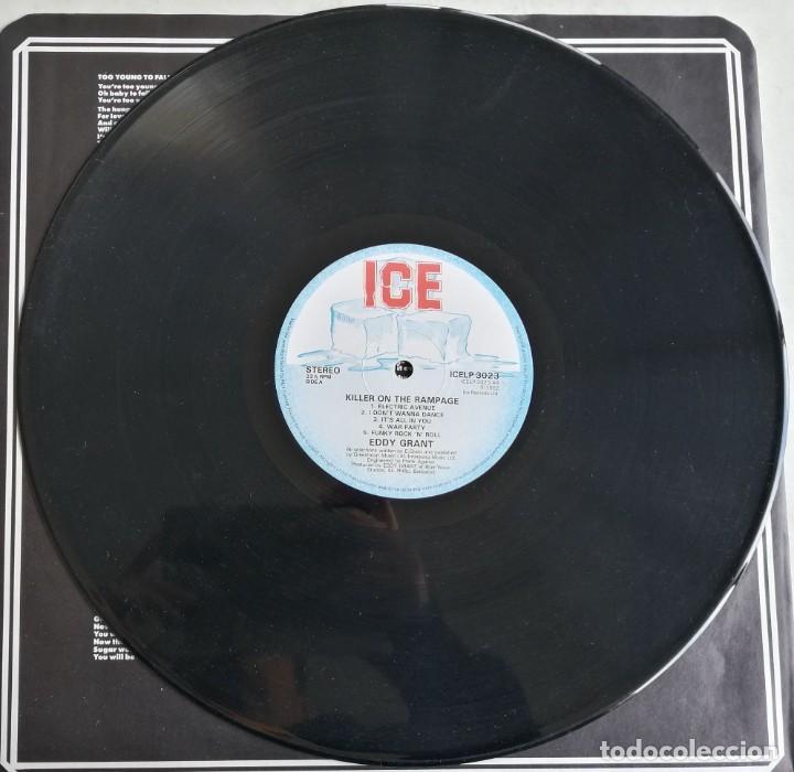 Discos de vinilo: Eddy Grant, Killer On The Rampage, ICE ICELP 3023, UK - Foto 3 - 277500803