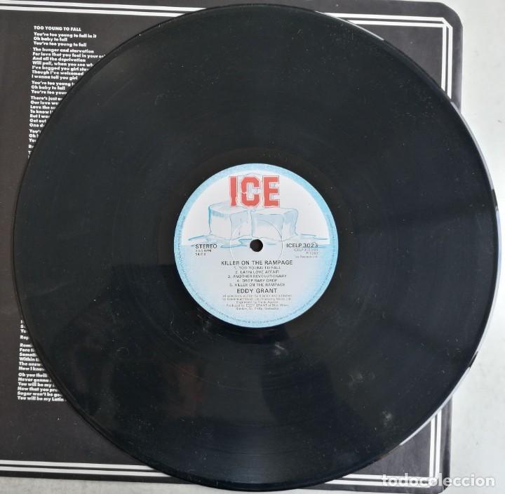 Discos de vinilo: Eddy Grant, Killer On The Rampage, ICE ICELP 3023, UK - Foto 4 - 277500803