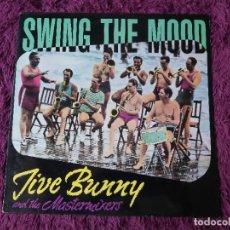 Discos de vinilo: JIVE BUNNY AND THE MASTERMIXERS – SWING THE MOOD VINYL MAXI-SINGLE 1989 BOY-051. Lote 277503148