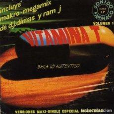 Discos de vinilo: 2 LP VINILO * SPAIN 1992 * VERSIONES MAXI * VITAMINA T VOL 1. Lote 277509328