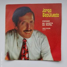 Discos de vinilo: JORGE SEPULVEDA. - PIEDAD + MI CASITA DE PAPEL SINGLE. TDKDS21. Lote 277513648