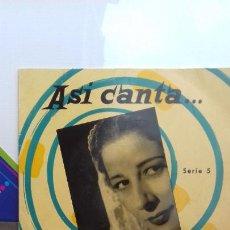 Discos de vinilo: CONCHITA PIQUER EP DE 4 CANCIONES. Lote 277515903