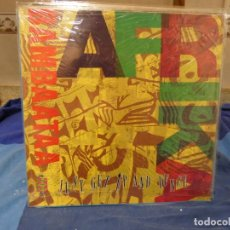 Discos de vinilo: MAXI SINGLE AFRIKA BAMBATAA GET UP AND DANCE SPITFIRE MUSIC 1991 MUY BUEN ESTADO. Lote 277538873