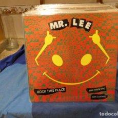 Discos de vinilo: MAXI SINGLE MR LEE ROCK THIS PLACE USA HOUSE MIX 1988 MUY BUEN ESTADO GENERAL. Lote 277539243