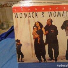 Discos de vinilo: MAXI SINGLE WOMACK AND WOMACK TEARDROPS 1988 MUY BUEN ESTADO GENERAL. Lote 277539353