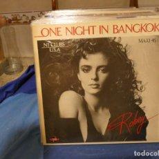 Discos de vinilo: MAXI SINGLE ROBEY ONE NIGHT IN BANGKOK 1985 MUY BUEN ESTADO. Lote 277539378