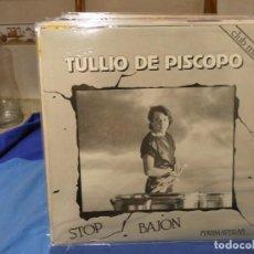 Discos de vinilo: MAXI SINGLE TULIO DE PISCOPO STOP BAJON BLANCO Y NEGRO 1984 MUY BUEN ESTADO. Lote 277539758