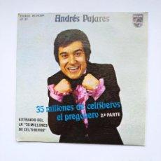 Discos de vinilo: ANDRÉS PAJARES - 35 MILLONES DE CELTIBEROS. SINGLE. TDKDS21. Lote 277555953