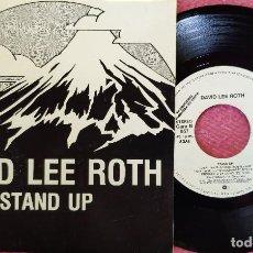 Discos de vinilo: SINGLE DAVID LEE ROTH - STAND UP - WEA 95 - SPAIN PRESS PROMO (EX-/EX-). Lote 277580863