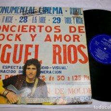Discos de vinilo: MIGUEL RÍOS CONCIERTOS DE ROCK Y AMOR EN DIRECTO VINYL LP. Lote 277589178