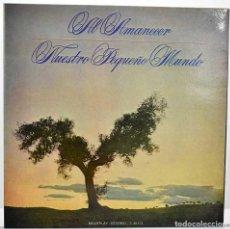 Discos de vinilo: NUESTRO PEQUEÑO MUNDO - AL AMANECER. LP. Lote 277594658