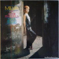 Discos de vinilo: MILVA & ASTOR PIAZZOLLA, LIVE AT THE BOUFFES DU NORD, BERTELSMANN CLUB 825 125-1 ME, 41 526 5. Lote 277608613