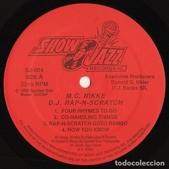 Discos de vinilo: Nikki Rap N Scratch* – 4 Rhymes 2 Go / Now You Know - Foto 2 - 277613373