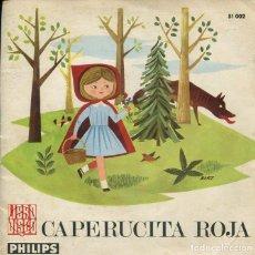 Discos de vinilo: CAPERUCITA ROJA (DISCO LIBRO PHILIPS 1966). Lote 277617353