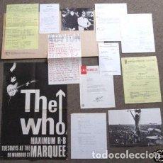 Discos de vinilo: THE WHO / LIVE AT LEEDS 70 RARA COMPLETA 1ª EDIC USA + 12 EXCLUSIVOS INSERTOS, COLLECTORS, EXC. Lote 277618918