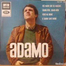 Discos de vinilo: *ADAMO - MES MAINS SUR TES HANCHES + 3 - EP AÑO 1965 - MADE IN FRANCE - LEER DESCRIPCIÓN. Lote 277620723