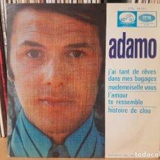 Discos de vinilo: *ADAMO - J'AI TANT DE RÊVES DANS MES BAGAGES + 3 - EP AÑO 1968 - PROMOCIÓN - LEER DESCRIPCIÓN. Lote 277621178