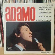Discos de vinilo: *ADAMO - LES FILLES DU BORD DE MER + 3 - EP AÑO 1964 - MADE IN FRANCE - LEER DESCRIPCIÓN. Lote 277621713