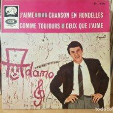 Discos de vinilo: *ADAMO - J'AIME / COMME TOUJOURS + 2 - EP AÑO 1965 - LEER DESCRIPCIÓN. Lote 277623553