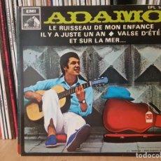 Discos de vinilo: *ADAMO - LE RUISSEAU DE MON ENFANCE + 3 - EP AÑO 1968 - PROMOCIÓN - LEER DESCRIPCIÓN. Lote 277624538