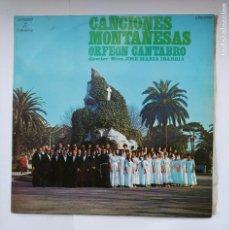Discos de vinilo: ORFEON CANTABRO. JOSE MARIA IBARBIA. CANCIONES MONTAÑESAS LP. TDKDA39. Lote 277633778