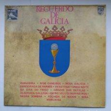 Discos de vinilo: RECUERDO DE GALICIA - LP. TDKDA39. Lote 277635318