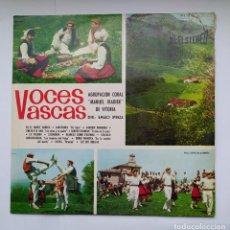 Discos de vinilo: VOCES VASCAS - POR LA AGRUPACIÓN CORAL MANUEL IRADIER DE VITORIA. LP. EMILIO IPINZA DIR. TDKDA39. Lote 277637598