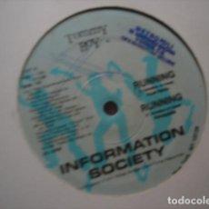 Discos de vinilo: INFORMATION SOCIETY RUNNING. Lote 277639013