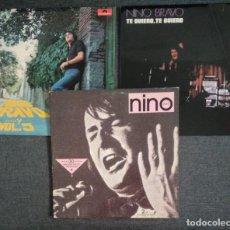 Discos de vinilo: MUY BUEN ESTADO!! LOTE NINO BRAVO / DOBLE LP 30 GRANDES EXITOS + TE QUIERO, TE QUIERO + ...Y VOL.5. Lote 277647393