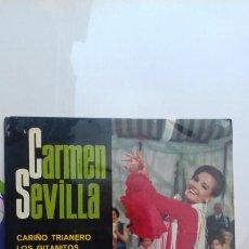 Discos de vinilo: CARMEN SEVILLA CARIÑO TRIANERO Y 3 MAS. Lote 277648418