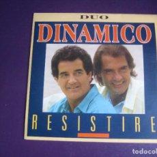 Discos de vinilo: DÚO DINÁMICO – RESISTIRE - SG CBS PROMO 1985 - SIN USO. Lote 277655503