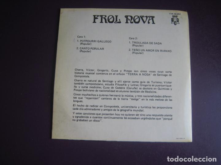 Discos de vinilo: Frol Nova - EP BCD 1971 - FOLK POP GALICIA 70S - SIN USO - Foto 2 - 277656088