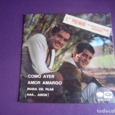 Discos de vinilo: DUO DINAMICO - COMO AYER +3 - FESTIVAL CANCION MEDITERRANEA - EP EMI 1966 -. Lote 277656723