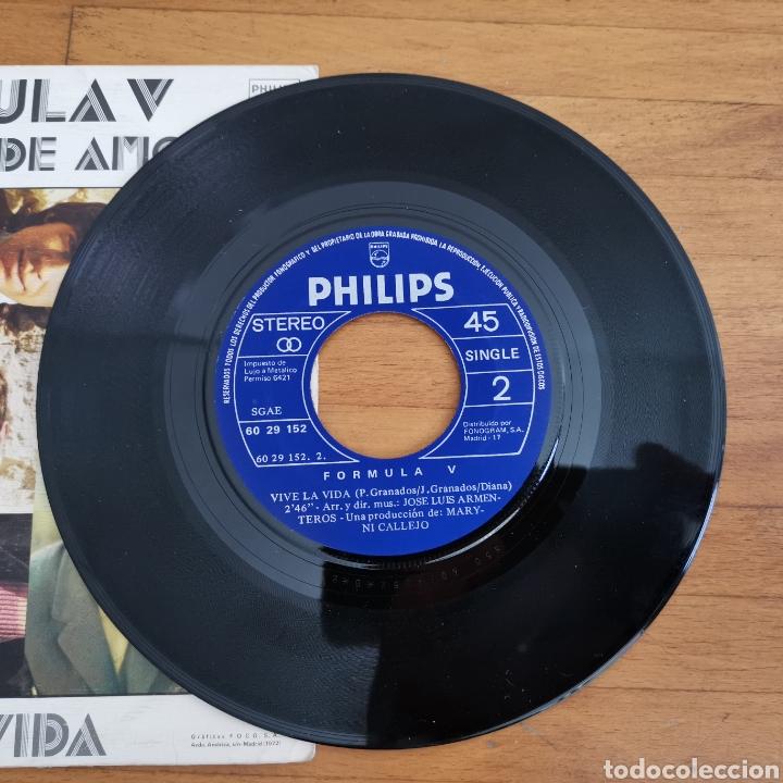 Discos de vinilo: Disco de vinilo de 45rpm Fórmula V, monedas de amor de 1972. - Foto 2 - 277677738
