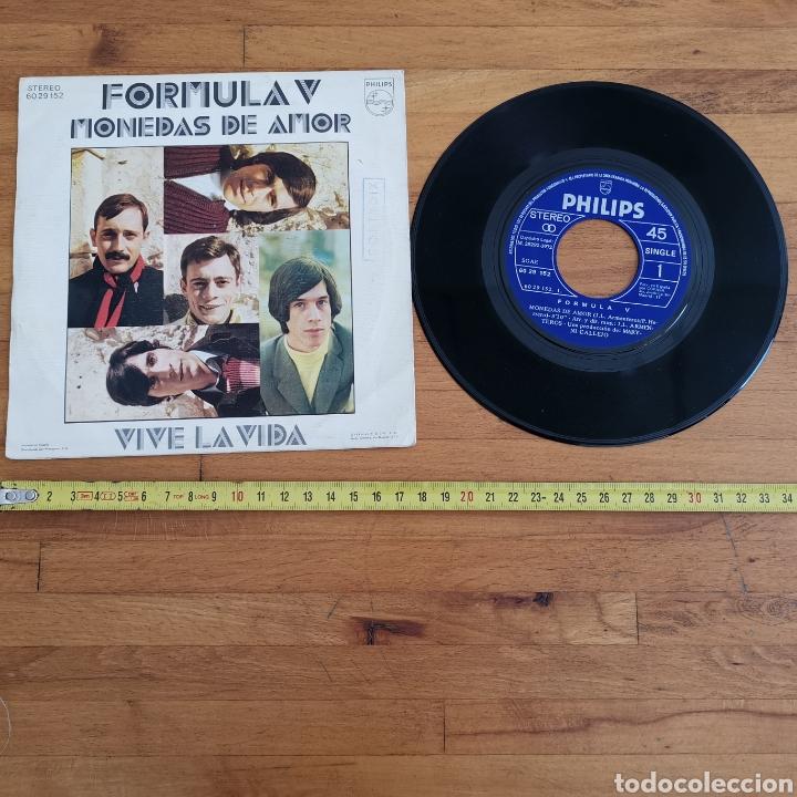 DISCO DE VINILO DE 45RPM FÓRMULA V, MONEDAS DE AMOR DE 1972. (Música - Discos - Singles Vinilo - Solistas Españoles de los 70 a la actualidad)