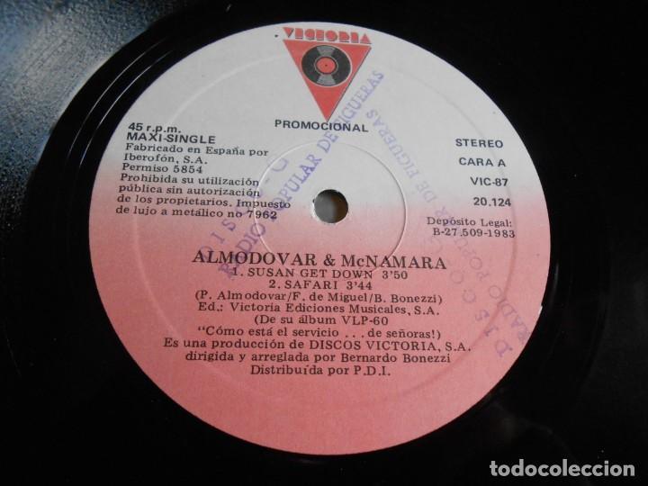 Discos de vinilo: ALMODOVAR & McNAMARA, MAXI SINGLE, SUSAN GET DOWN + 2, AÑO 1983 PROMO - Foto 3 - 277679698